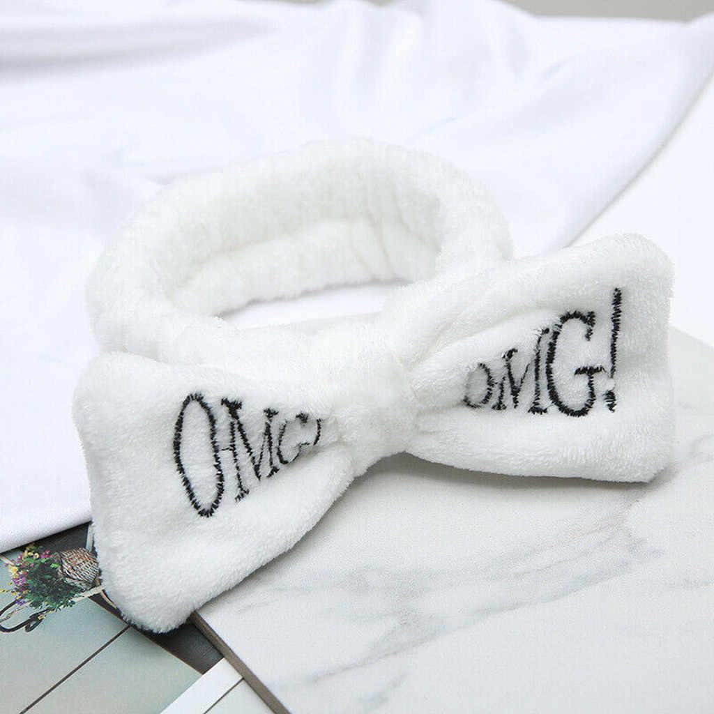Polar yay Hairband kadın moda sıkı kafa bandı kafa türban bandanalar kafa bandı tatlı kafa çember banyo Spa yüz bandı