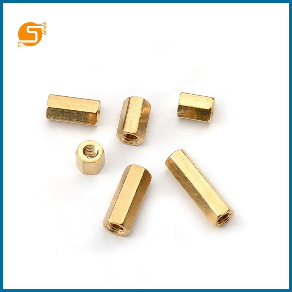S ROBOT M3 Hex Screw M3 Female Hexagonal Brass PCB Standoffs Spacers Screw M3*8/10/12/15/20/25/30/35/40/45/50mm EC11
