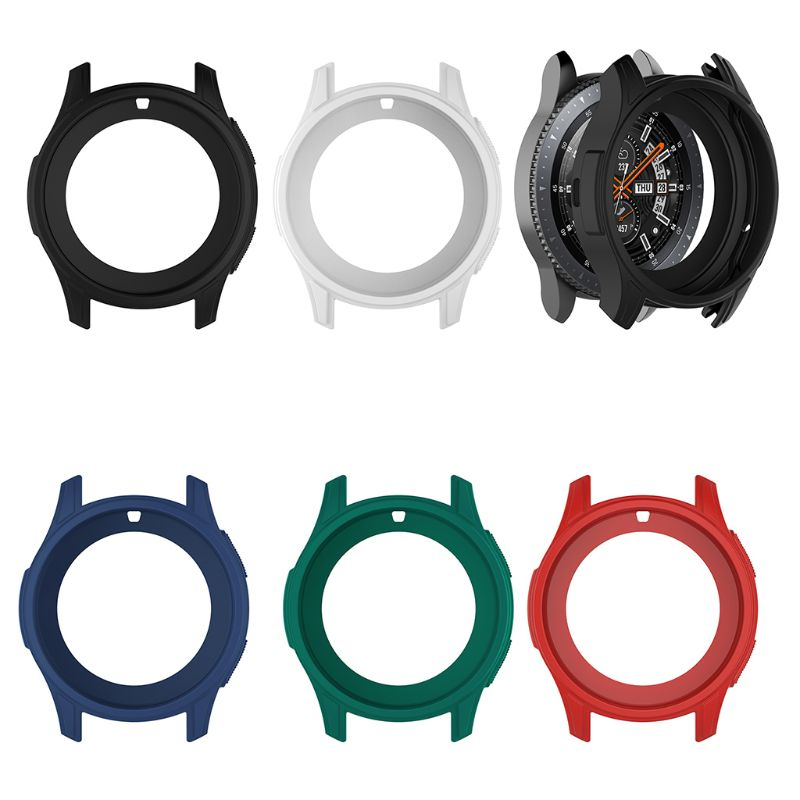 High Quality Silicone Soft Shell Protective Frame Case Cover <font><b>Skin</b></font> For <font><b>Samsung</b></font> Galaxy Watch 46mm Gear <font><b>S3</b></font> <font><b>Frontier</b></font> image