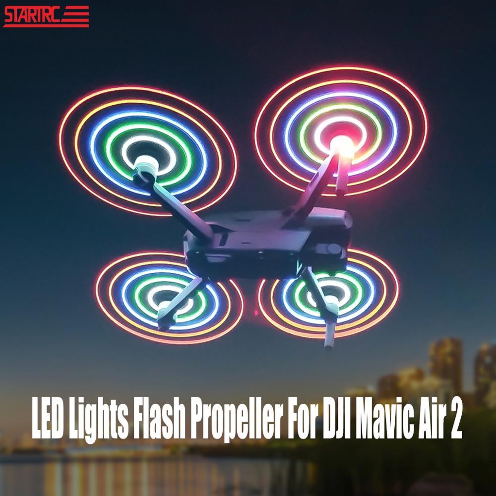 STARTRC Mavic Air 2 LED Lights Flash Propeller 7238F Rechargeable Propeller Night Flying For DJI Mavic Air 2 Drone Propeller