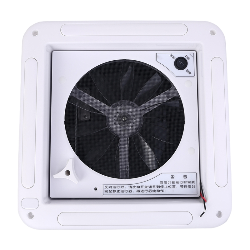Motorhome Vents Fan Manual Control Caravan Accessories for RV Trailer with LED 12 Volt Boat Exhaust Fan
