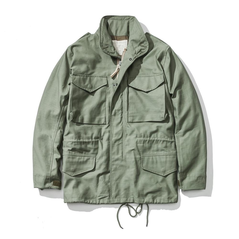 A.C.E. لنا الجيش 1966 M65 نسخة الحقل خندق معطف التمويه العسكرية سترة الشتاء طويل أبلى-في معطف مبطن من ملابس الرجال على  مجموعة 1
