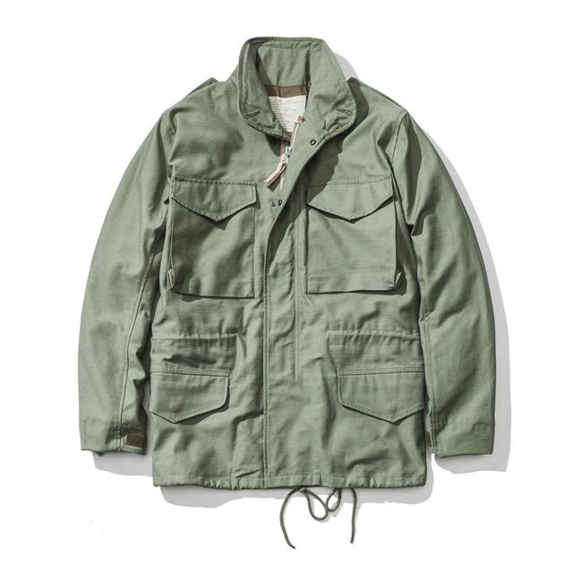A.C.E. US Army The 1966 M65 Replica Field Trench Coat Camouflage Military Jacket Winter Long Outwear
