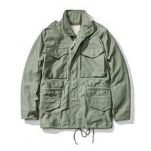 A. c. e. Exército dos eua 1966 m65 replica campo trench coat camuflagem jaqueta militar inverno longo outwear