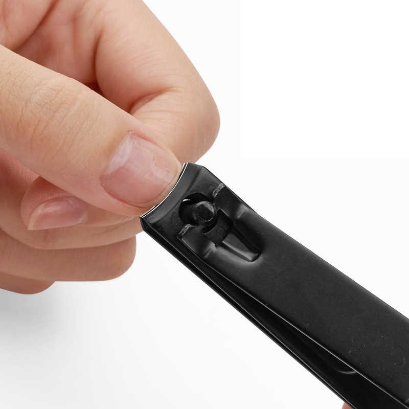 黒ステンレス鋼爪切り 3 スタイルネイル切断機プロトリマー高品質足ネイルクリッパー爪ツール