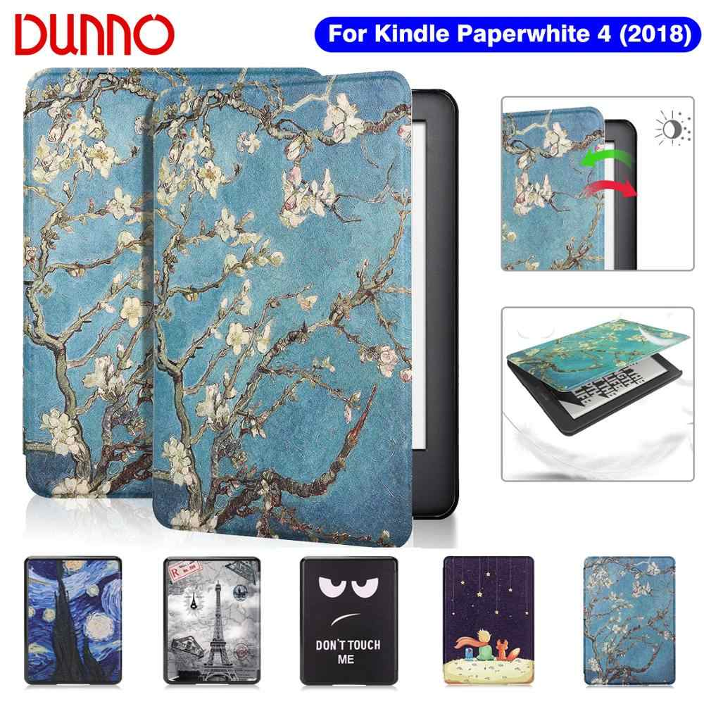 2018 Kindle Paperwhite 4 Case untuk Funda Amazon Kindle Paperwhite 10th Generasi Penutup Pelindung Shell Flip E-book Capa
