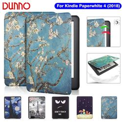 2018 kindle Paperwhite 4 Чехол для Funda Amazon Kindle Paperwhite 10-го поколения защитный чехол флип-чехол для электронной книги