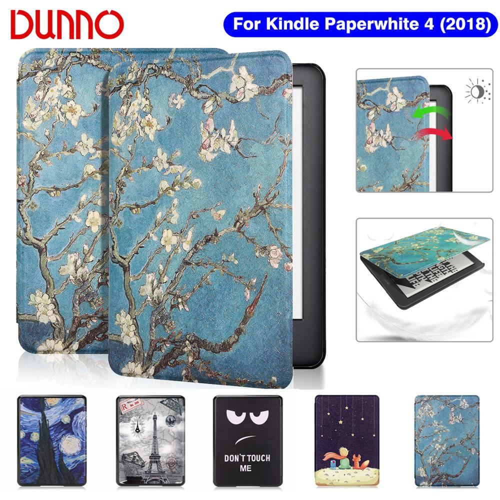 2018 Kindle Paperwhite 4 Case For Funda Amazon Kindle Paperwhite 10th Generation Cover Protective Shell Flip E-book Capa