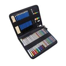 51/40/33 Pcs Sketch Pencil Set Professional Beginners Wood Painting Pen Sketch Pen Children Pencil Drawing Bag Art Supplies
