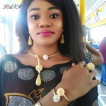 Fani 2019 ファッションアフリカのブライダルジュエリーセット卸売ナイジェリア女性ウェディングジュエリーセットドバイゴールドジュエリーデザイナージュエリーセットジュエリーセット