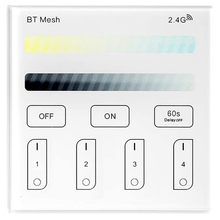 Bluetooth Mesh Smart Contact Panel Remote Controller Wireless Wall-Mounted 2.4G Operated Dimmable Touchsn Panel Works mesh panel iridescence backpack