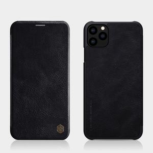 Image 5 - Caes for iPhone X Xs Max 7 8 Plus 12 Mini 11 Pro Max Nillkin Qin Series PU Leather Flip Cover For iPhone 11 Case