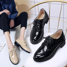 Leather Flats Shoes Slip On Shoes For Women Oxford Shoes Black Flats Soft Platform Oxford Autumn Women Shoes 2019 Vintage Shoes first dance women oxfords dr matrins girl casual shoes female leisure shoes for women flats oxford custom 3d prints black shoes