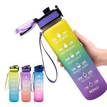 1000ml açık su şişesi spor şişe yürüyüş kamp plastik içme şişesi BPA ücretsiz