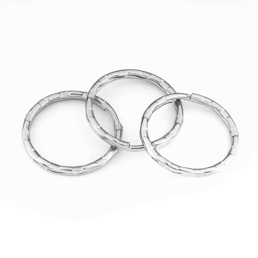 25mm 30mm 30 pçs/lote Suporte Chave Anéis de Divisão de Metal Unisex Acessórios Keychain Chaveiro Keychain Finding Fazendo Diy Acessórios