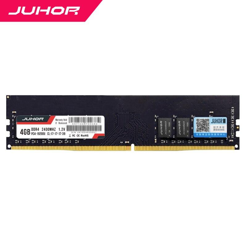 Juhor desktop ram ddr4 8 gb 4gb 16gb 2133 mhz 2400 2666 3000 dimm fábrica vender diretamente