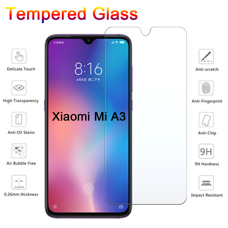 9H Tempered Glass For Xiaomi Mi A3 Screen Protector For Xiaomi Mi CC9 Hard Protective Glass For Xiomi Mi A3 Lite CC9e A 3 Film