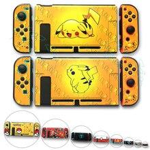 Защитный чехол для консоли nintendo s Zend, цветной чехол Nitendo Switch Crystal Shell, чехол для nintendo Switch Pikachus, тематический чехол