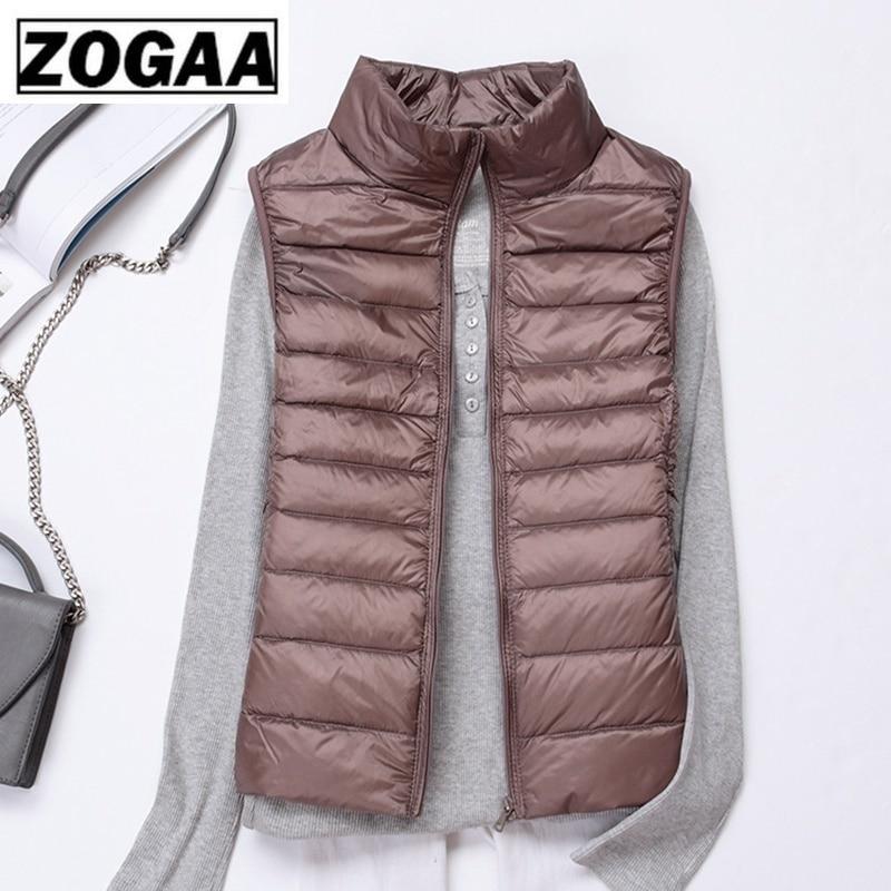 Winter Women Down Vest Fashion Female Sleeveless Vest Jacket Warm Down Jacket Plus Size Women Sleeveless Jackets Size S 4XL in Vests amp Waistcoats from Women 39 s Clothing