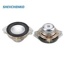 1.75 Inch 45mm Full Range Speaker 8OHM 5W Loudspeaker Crystal Frame Rubber Edge Full Range Speaker Repair Audio 2pcs