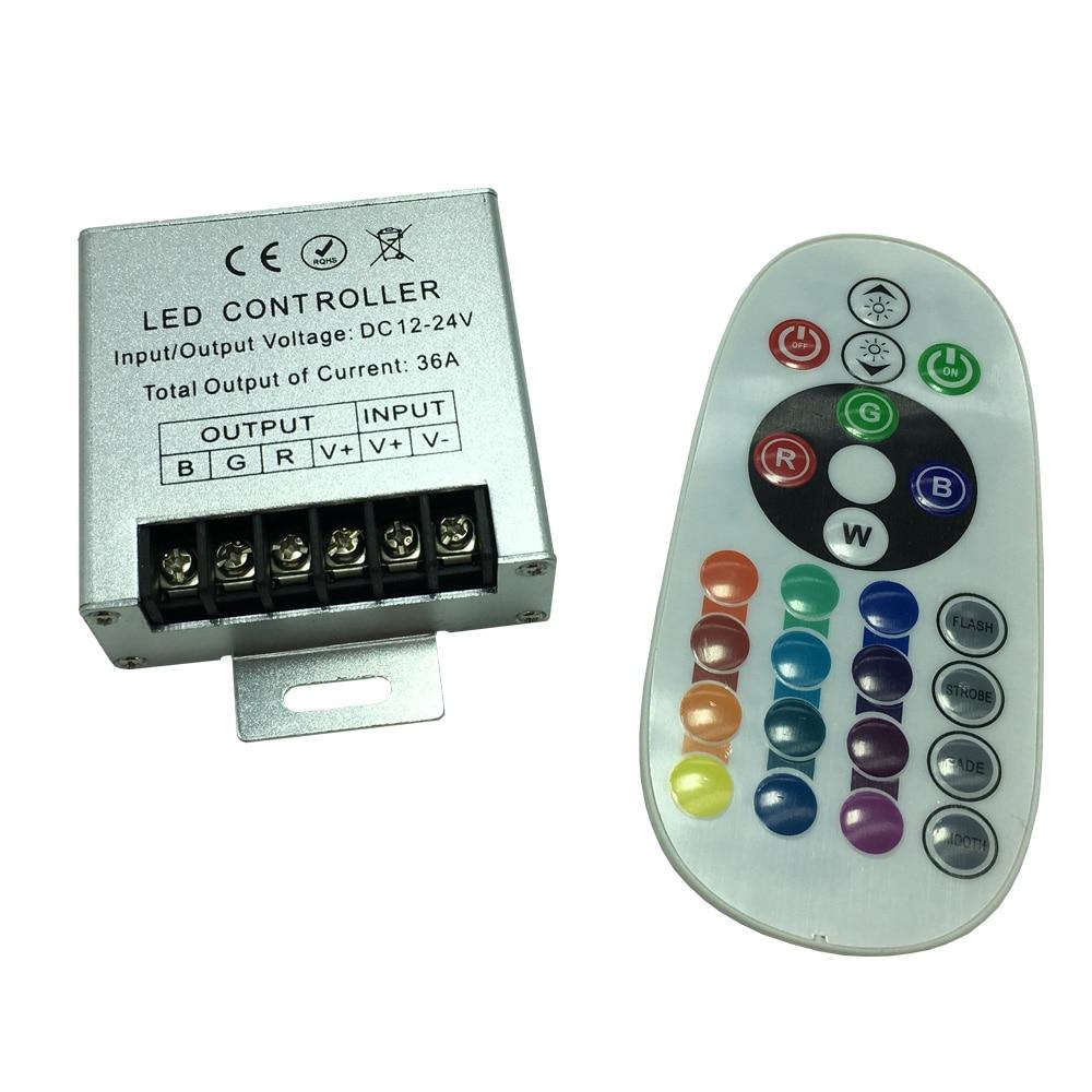 IR RGB Controller DC12V 24V Max Load 432W For LED Pool Light