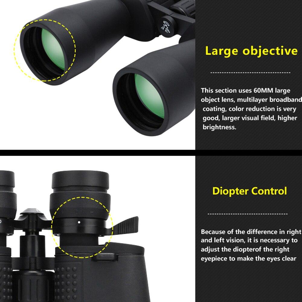 Borwolf 10-380X100 zoom longue portée à fort grossissement 10-60 fois jumelles télescope de chasse Zoom professionnel HD - 4
