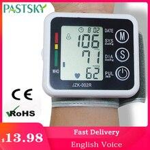 J. Angielski ciśnieniomierz cyfrowy mankiet ciśnieniomierz nadgarstkowy sprzęt medyczny pomiar opieki zdrowotnej wyświetlacz LCD
