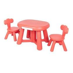 Plastikowy stół meblowy i 2 zestaw krzeseł dla dzieci przedszkole stół i krzesło zestaw księżniczka stół i krzesło w Zestawy mebli dziecięcych od Meble na