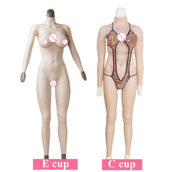 C E Cup Whole Body Silicone Tights Breast Forms With Fake Huge Boobs For Shemale Crossdresser Transgende  shemale