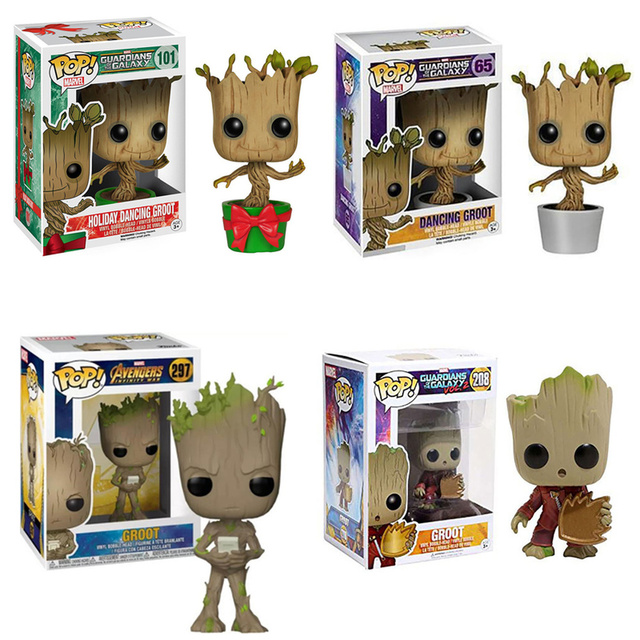 FUNKO POP Guardians of the Galaxy Vol. 2 Groot Action Figure Toys Decoration Model Dolls for Kids Birthday Christmas Gifts 1