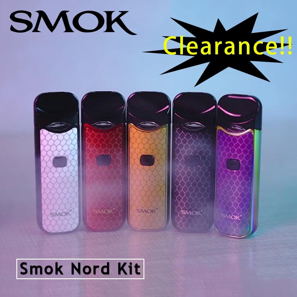 Clearance SMOK Nord Kit 1100mAh Battery Mesh Coil 3ML Cartridge Nord Pod Starter Kit Vs Nord 2 Rpm40 Rpm80 Pro Kit