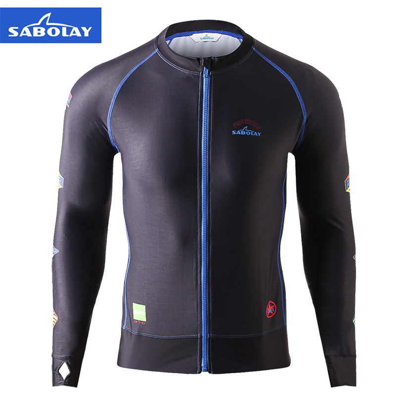 Wetsuit Men's  Sunscreen Surfing jacket zipper swimsuit Anti-UV Outdoor Water sports speed dry Men's Swimming Diving suit