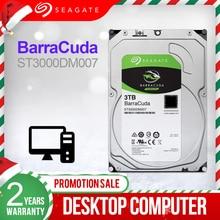Seagate disque dur interne HDD de 3.5 pouces, pour ordinateur de bureau, avec capacité de 3 to, 5400RPM, SATA, 6 Gb/s, Original, pour ordinateur de bureau, ST3000DM007