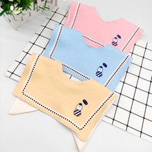 COZINESS Baby Saliva Towel Newborn Children Pure Cotton Rice Pocket Square Baby Bibs Korean Version Adjustable Washable Bib