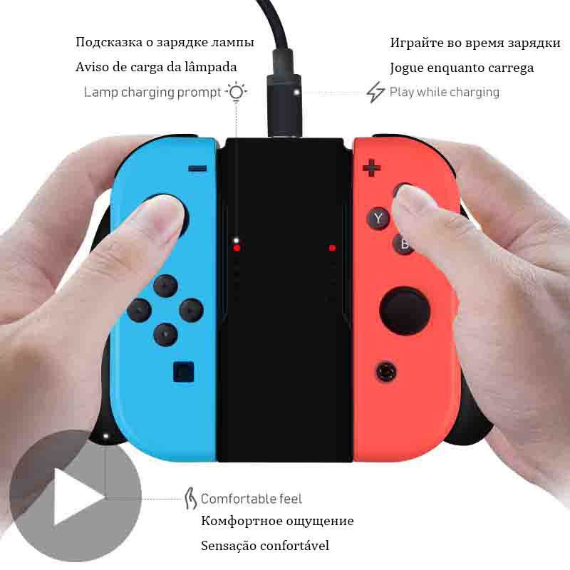 Charging Dock Grip For Nintendo Nintend Switch Joy Con Joycon Charger Controller Nintendoswitch Joyicon Control Accessories Base