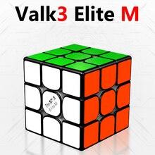 Qiyi Valk3 Elite متر 3x3x3 المغناطيسي المكعب السحري Valk3 متر النخبة مغناطيس سرعة مكعبات و Valk 3 Elite متر 3x3 أُحجية مكعبات المهنية