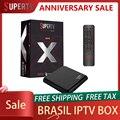 Супер ТВ черная X ТВ приставка 2 Гб 16 Гб Бразилия ТВ приставка Android ТВ приставка Amlogic S905X лучшая бразильская IP ТВ приставка