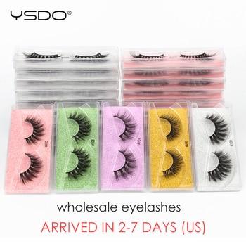 YSDO Mink Lashes Wholesale 10/30/50/100 Pcs 3D Mink Eyelashes Natural False Eyelashes Wispy Lashes Makeup Fluffy Lashes In Bulk 1