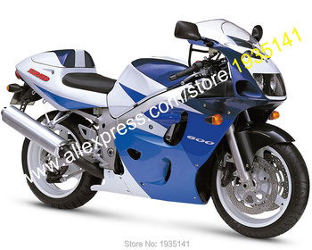 For Suzuki SRAD GSXR600 GSXR750 96 97 98 99 GSXR 600/750 1996 1997 1998 1999 Blue White ABS Motorcycle Fairing