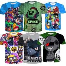 Estrelas traje camiseta roupas leon crianças corvo pico 3d impressão topos t pano menino meninas roupas masculinas xs 4xl