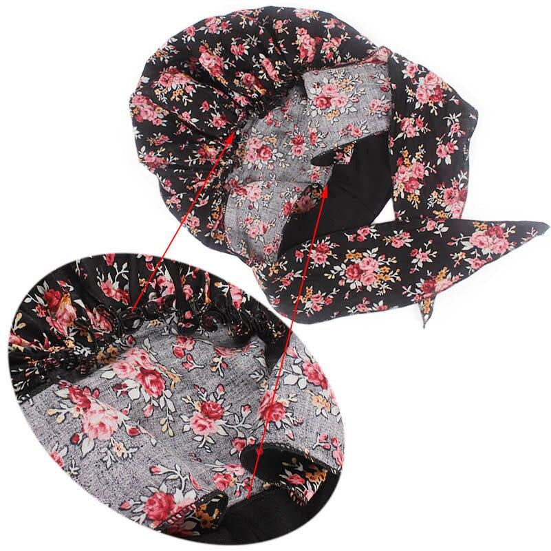 Image 5 - Muslim women print algodão turbante chapéu cachecóis pré amarrado  câncer quimioterapia beanies headwear bandana headwrap perda de cabelo  acessóriosAcessórios para cabelo (mulheres)