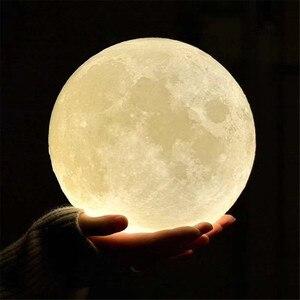Image 3 - 3Dพิมพ์จี้ไฟNovelty Creative MoonบรรยากาศNight Lightโคมไฟร้านอาหาร/บาร์แขวนโคมไฟ