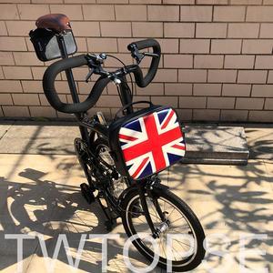 Сумка для велосипеда TWTOPSE с британским флагом, складная сумка для велосипеда Brompton с рамкой, искусственная синтетическая кожа, Задняя сумка, ...