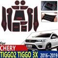 Нескользящий Резиновый коврик для чашек Chery Tiggo 2 Tiggo2 Tiggo 3x MVM X22 DR3 2016 ~ 2019, аксессуары для телефона
