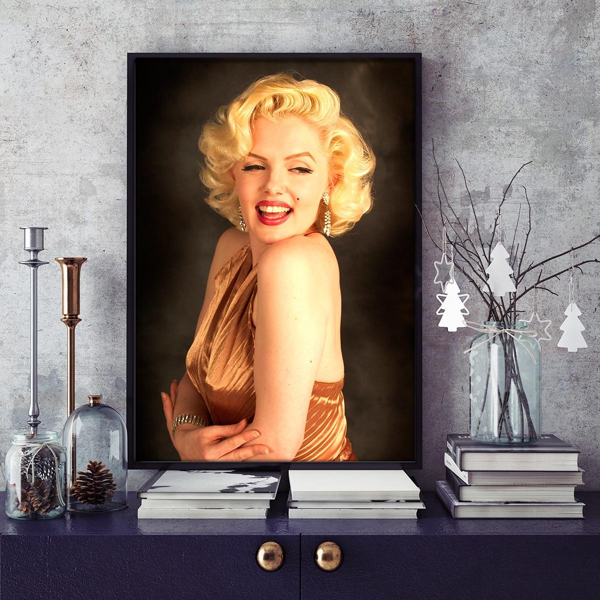 Cuadro clásico, arte de pared, pintura al óleo para el hogar, decoración para el salón, póster de Marilyn Monroe, pintura en lienzo para pared Cuadro de visualización completa de Ángel/paisaje redondo bordado en diamante paisajístico 5D cuadro de diamantes de imitación de punto de cruz imagen nueva