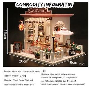 Image 2 - Cutebee casa de boneca móveis em miniatura casa de bonecas diy miniatura quarto caixa teatro brinquedos para crianças adesivos diy dollhouse k