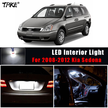 TPKE 13X blanco luces interiores LED paquete Kit 2008-2012 Kia Sedona tronco de carga lámpara de placa de matrícula No Error
