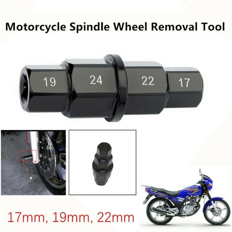 Купить с кэшбэком 1PC Motorcycle Front Wheel Spindle Removal Sleeve 17 19 22 24mm Hub Axle Hex Aid