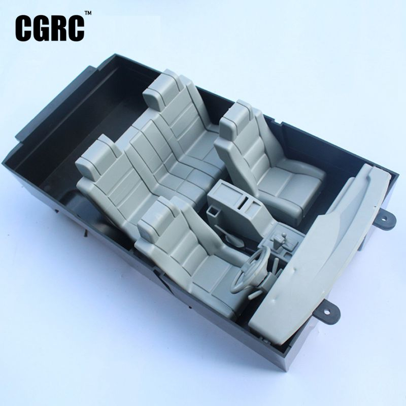 RC <font><b>Car</b></font> Shell Body Interior Kit Electric Steering <font><b>Wheel</b></font> For Land Cruiser LC80 Pajero For 1/10 RC Crawler <font><b>Car</b></font> TRX4 SCX10 image