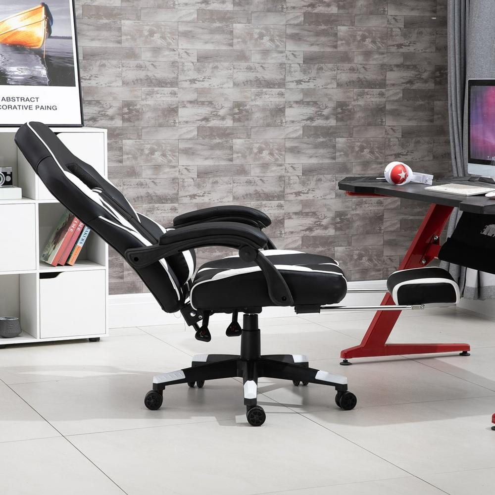 Home Office Racing Gaming Office Chair Computer Desk 360 Degree Chair Adjustable Seat Desk PC Leather Chair
